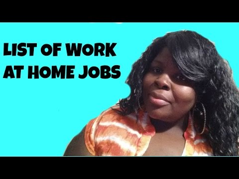List of Legitimate Work at Home Jobs