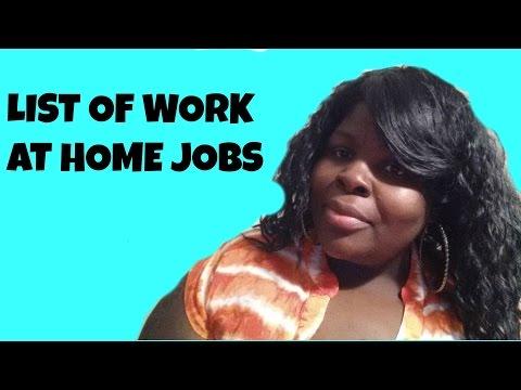 List of Legitimate Work at Home Jobs