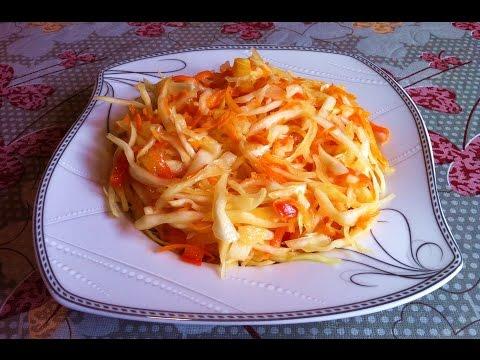 Хрустящая Маринованная Капуста Очень Вкусная Закуска / Салат из Капусты / Pickled Cabbage Recipe