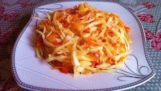 Маринованный Салат из Капусты/Маринованная Капуста/Вкусный Салат/Pickled Cabbage/Простой Рецепт