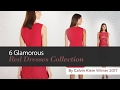 6 Glamorous Red Dresses Collection By Calvin Klein Winter 2017