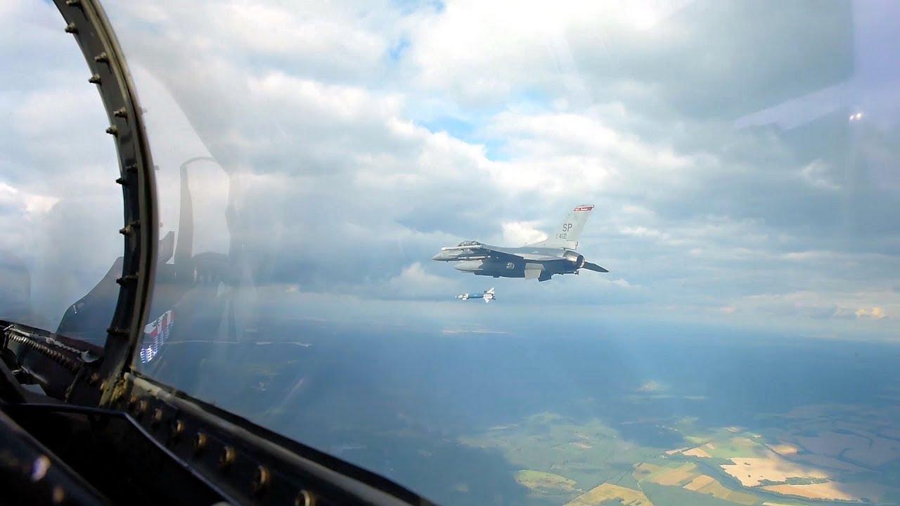 USAF F-16s - Inert Bomb Dropping