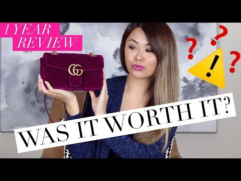GUCCI MARMONT BAG - 1 YEAR WEAR & TEAR REVIEW + WHAT FITS IN