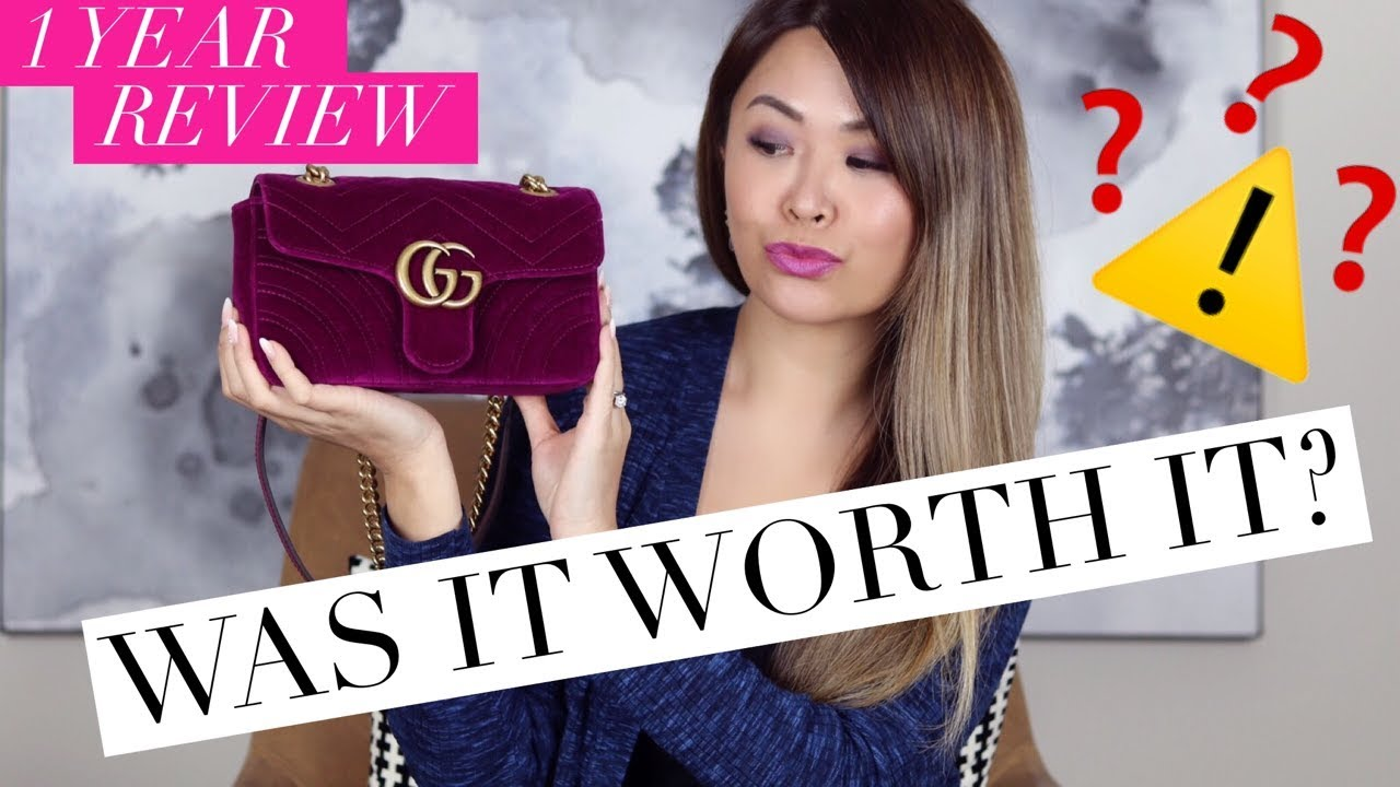 80796ed02565 GUCCI MARMONT BAG - 1 YEAR WEAR & TEAR REVIEW + WHAT FITS INSIDE ...