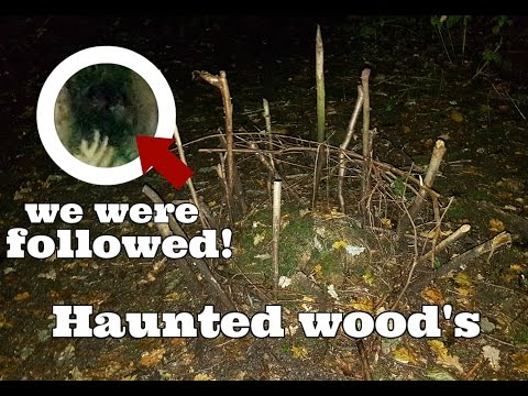 "HAUNTED WOODS - ""We were followed"" Spooky exploration at night!"