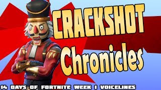 Fortnite Crackshot Chronicles - Voicelines and Lore for 14 days of Fortnite to dec 26