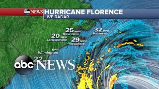 Tracking the path of Hurricane Florence
