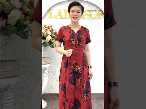 Đầm lụa hè mát lạnh thiết kế cách điệu Ladyshop TK625 - Gọi Ngay 0977.805.355