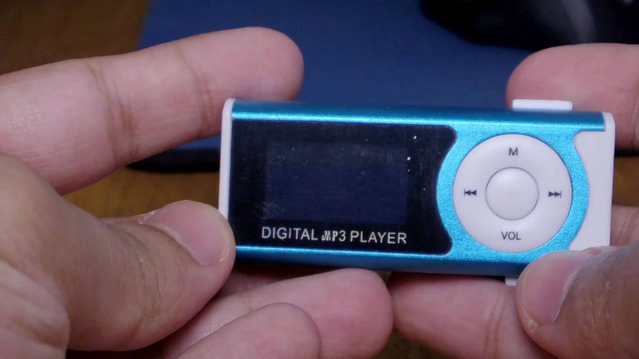 $5 Digital MP3 Player 16gb Blue Unboxing and test!! - YouTube