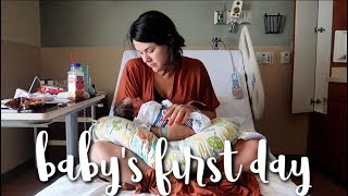 24 hours in the hospital with a newborn!