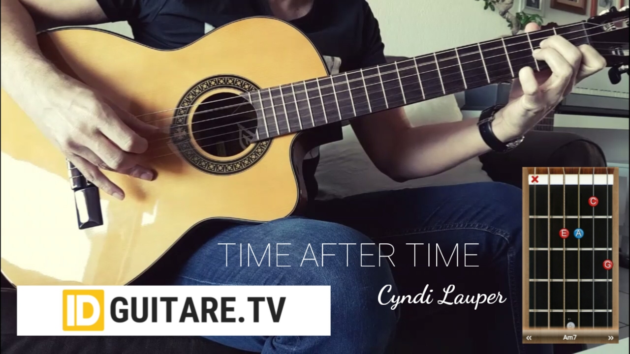 Time After Time Cyndi Lauper Acoustic Guitar Cover Chords