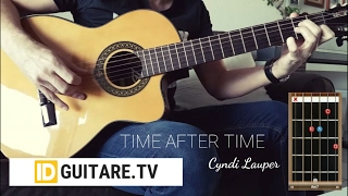 Time after time - Cyndi Lauper - Acoustic guitar cover + chords. Morceau avec accords