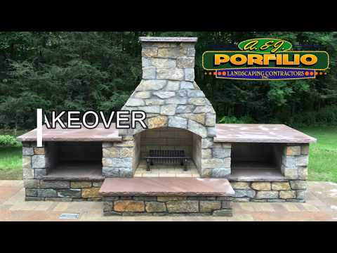 Backyard Make-Over - How we build a Fireplace, Outdoor Kitchen, Patio, Steps and More