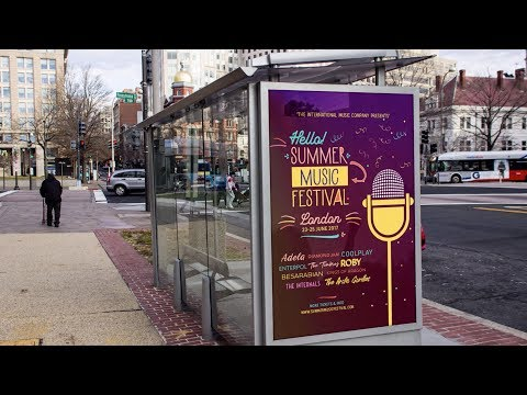 How to Create a Poster Advertising a Summer Music Festival in Illustrator and Photoshop