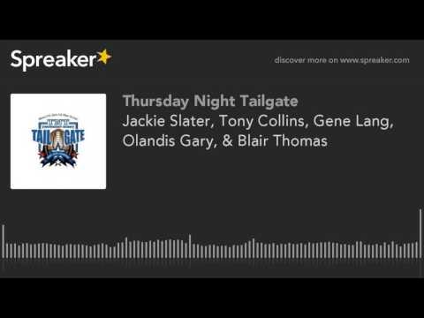 Jackie Slater, Tony Collins, Gene Lang, Olandis Gary, & Blair Thomas