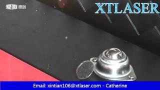 500W fiber laser cutter coin test machine bed