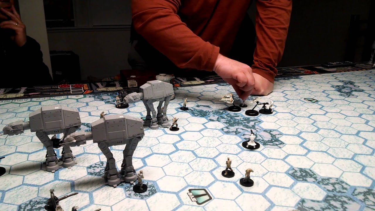 Assault on hoth battle 1 vid 4 board game 1988 youtube for Star wars fish tank decorations