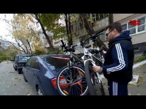 Amos Weekend  - обзор и тест автомобильного крепления для трех велосипедов