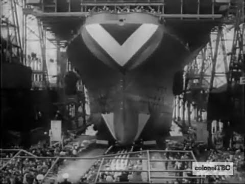 Aircraft carrier USS Oriskany (CV-34) is launched - 13 October 1945