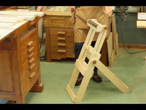 Chevalet ajustable et pliant pour l 39 atelier youtube - Fabriquer un chevalet pour couper le bois ...