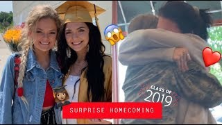 Military homecoming & my sister graduated || SURPRISING MY FAM