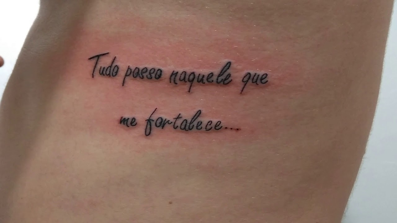 Tatuagem Frase Na Costela Youtube