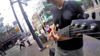 The Six Million Dollar Guitar - Live on Granville street - Vancouver July 15/2016