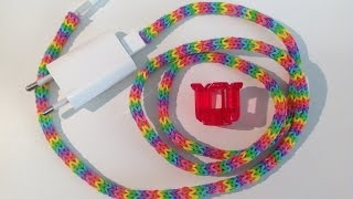 Rainbow Loom Nederlands, oplader/snoer versiering, cord cover, fingerloom