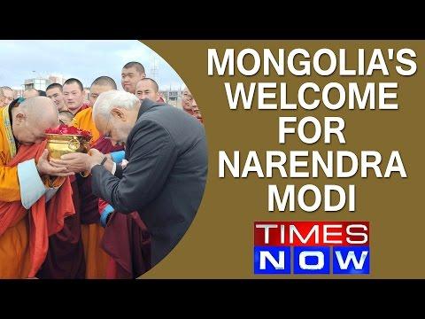 Mongolia's grand welcome for Narendra Modi