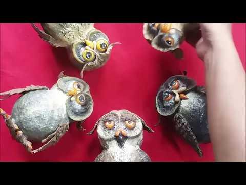Paper Mache Owl - Havroux Craft