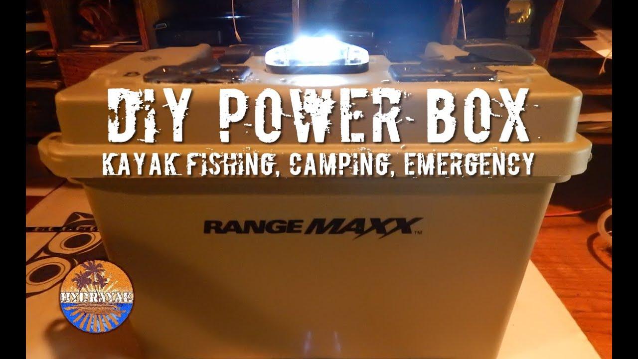 Diy kayak fishing battery box youtube for Ice fishing battery box