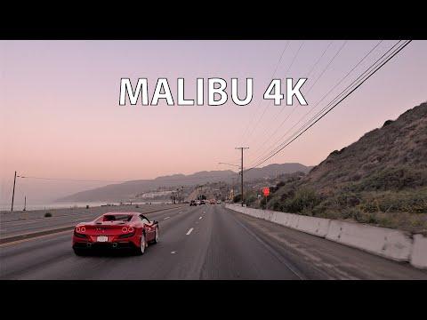Malibu 4K - Ferrari F8 Spider 2021 - Scenic Drive