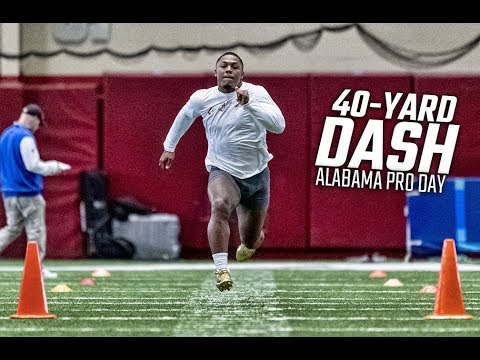 Unofficial 40-yard dash times from Alabama Pro Day 2019