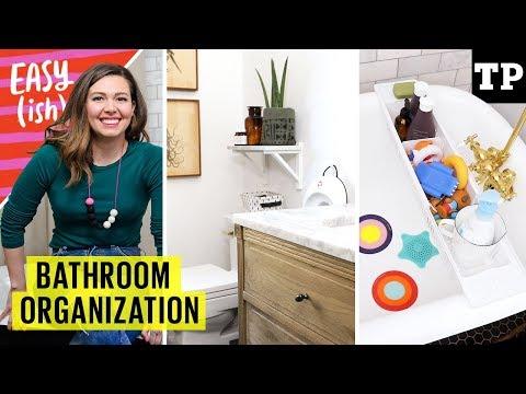 Family bathroom organization: potty training, easy hacks, bath toys + more!   Easy(ish) S01E15