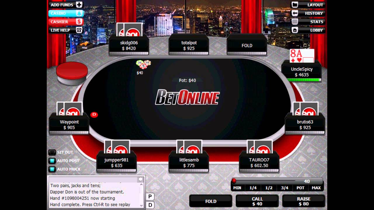 Bet Online Poker - some no good, very bad plays
