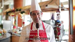 Christmas Charity Cook-out 2020 at The Fullerton Hotel Singapore