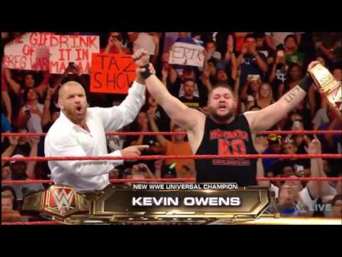 Download KEVIN OWENS WINS WWE UNIVERSAL CHAMPIONSHIP - MONDAY NIGHT RAW 8/29/16 (Review)