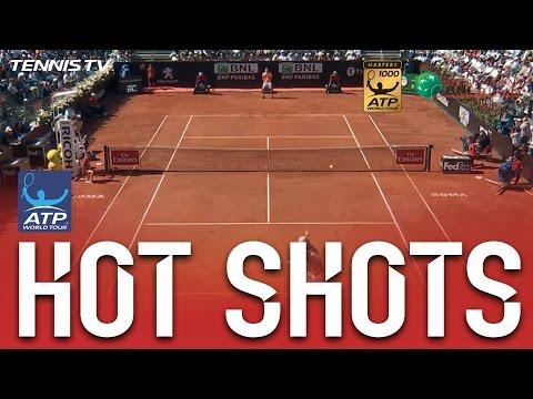 On The Move, Isner Crushes Hot Shot Smash Against Zverev In Rome 2017 SF