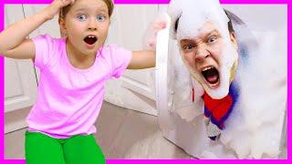 Милли шумит и мешает папе спать | Правила поведения для детей или день сюрпризов