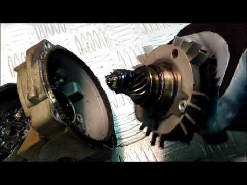 Дуга на щетках, замена ротора болгарки 230 DeWALT D28414 sparking on brushes, rotor replacement