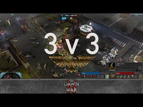 Dawn Of War 2 - 3v3 | Adila + Matouzka + Morgan [vs] Haidran + Qwest + Shtyrmovik