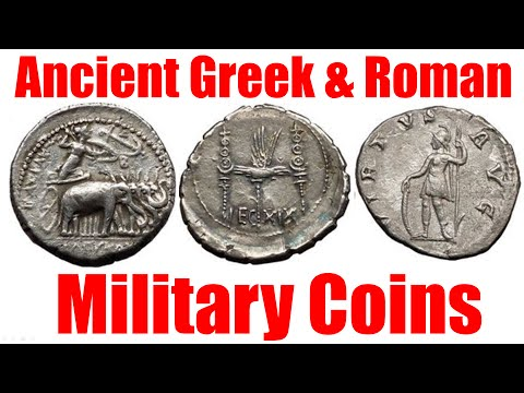 Ancient Greek and Roman MILITARY on COINS The Weapons, Battles & Symbols