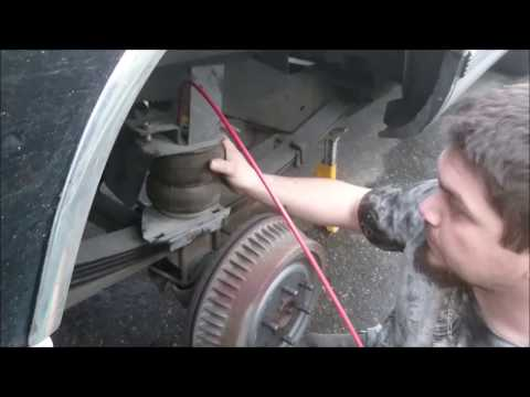 HOW TO INSTALL AIR BAG SUSPENSION CHEVY TAHOE