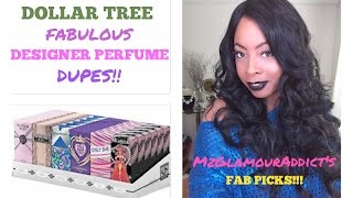 DOLLAR TREE | Fabulous DESIGNER PERFUME DUPES!! | Smell Good WITHOUT Breaking Bank!