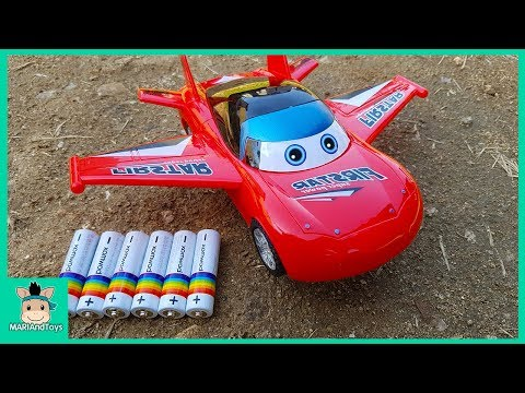 Assembling Mcqueen Toys Disney Cars 3 for Kids. Police car, Helicopter, Airplane play | MariAndToys