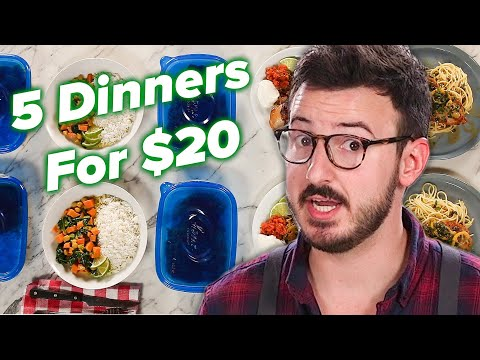 I Tried To Make 5 Meals For 2 For Only $20 • Tasty
