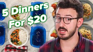 I Tried To Make 5 Dinners For 2 For Only $20 • Tasty