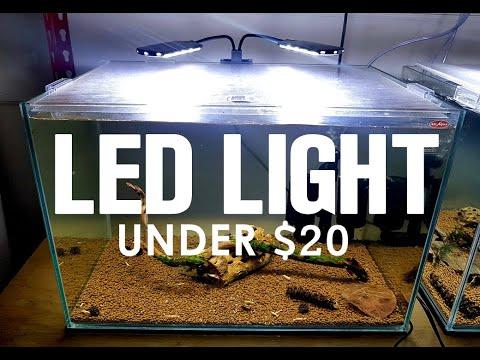 LED AQUARIUM LIGHT UNDER $20!!!