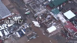 Netherlands: Aerial footage shows devastation left by Hurricane Irma on Dutch Caribbean islands
