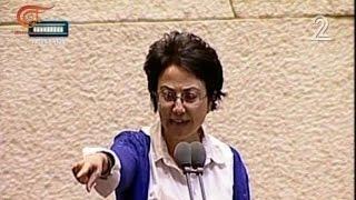 حنان زعبي خلال كلمتها في الكنيست